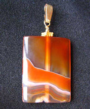 "Load image into Gallery viewer, Hand Carved Carnelian Agate and 14K Gold Filled 2 1/8"" Pendant 506759B - PremiumBead Alternate Image 8"