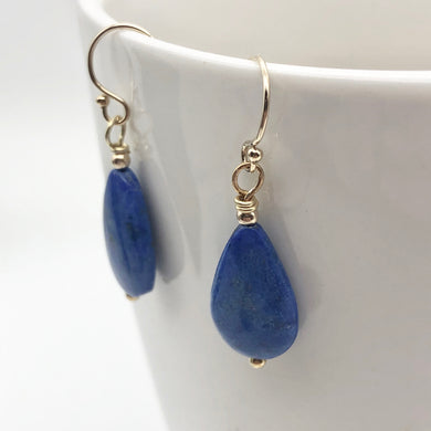 Blue Lapis Lazuli Earrings | 14k Gold Earrings | Handmade Jewelry - PremiumBead
