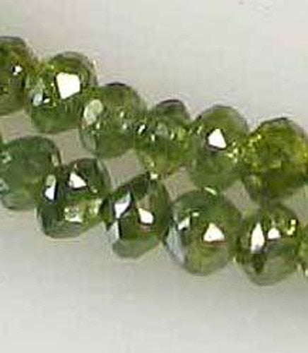0.81cts 11 Parrot Green Diamond Faceted Beads 9605X - PremiumBead