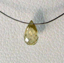 Load image into Gallery viewer, 1 Natural Golden Yellow Zircon Faceted Briolette Bead 6942 - PremiumBead
