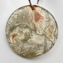 Load image into Gallery viewer, Druzy Red Moss Agate 24mm Disc Pendant Bead 4848Fb - PremiumBead Alternate Image 3