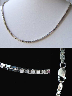 Italian! Silver 2mm Box Chain 20