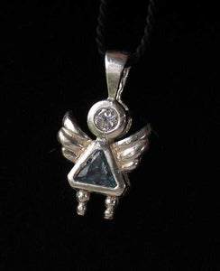 March! Crystal Kid Angel & Silver Pendant 9925C - PremiumBead Primary Image 1