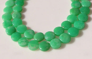 Radiant 2 Natural Chrysoprase Agate 12x5mm Coin Beads 9574B - PremiumBead Primary Image 1