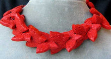 Load image into Gallery viewer, Hand Carved Red Cinnabar Butterfly Bead Strand | 34.5x23x7mm | Red - PremiumBead