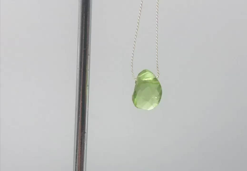 Peridot Faceted Briolette Bead | 2 cts | 8x6x5mm | Green | 1 bead |
