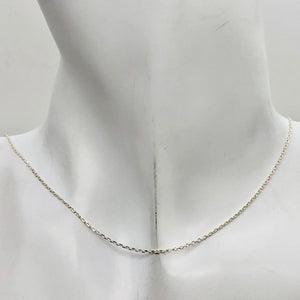 "16"" Italian Made 1.2 Grams Solid Sterling Silver 1mm Open Cable Chain 