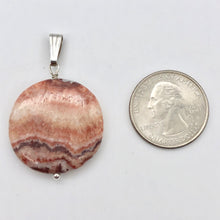 "Load image into Gallery viewer, Red Zebra Jasper Disc and Sterling Silver Pendant | 29x5mm (Disc) | 1.75"" Long - PremiumBead"