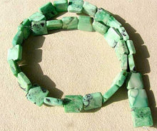 Load image into Gallery viewer, Mojito Natural Green Turquoise Square Coin Bead Strand 107412G - PremiumBead