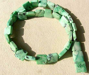 Mojito Natural Green Turquoise Square Coin Bead Strand 107412G - PremiumBead