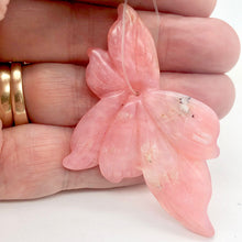 Load image into Gallery viewer, Hand Carved Pink Peruvian Opal Flower Semi Precious Stone Bead | 58.6cts | - PremiumBead
