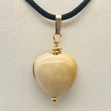 Load image into Gallery viewer, Love! White and Red Mookaite 14kgf Heart Pendant 504891D - PremiumBead