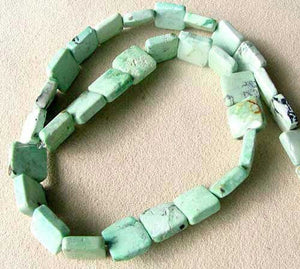 4 Beads of Mojito Mint Green Turquoise Square Coin Beads 7412F - PremiumBead