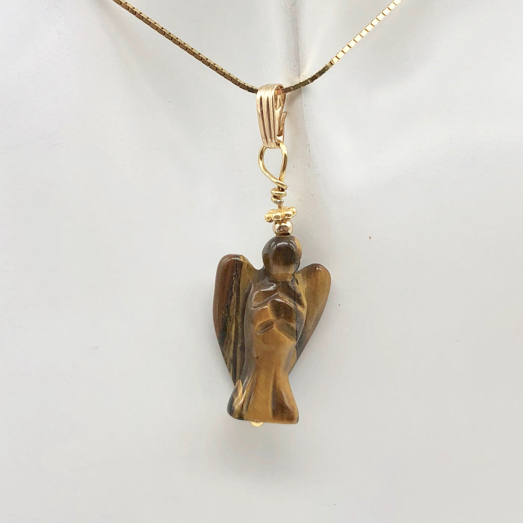 On the Wings of Angels Tigereye 14K Gold Filled 1.5