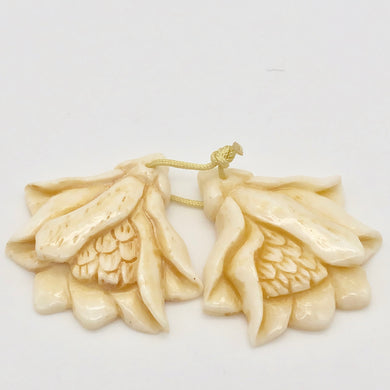pair-of-carved-waterbuffalo-bone-tropical-flower-beads-10778-15058