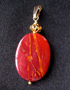 Fabulous Mookaite 30x20mm Oval 14k Gold Filled Pendant, 2 1/8 inches 506765D - PremiumBead Alternate Image 10