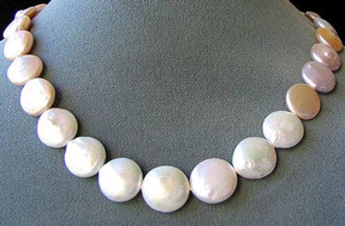 Amazing Natural Multi-Hue FW Coin Pearl Strand 104757A - PremiumBead Primary Image 1