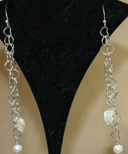 Load image into Gallery viewer, Valentine Heart Pearl and Solid Sterling Silver Hand Made Earrings 304811 - PremiumBead