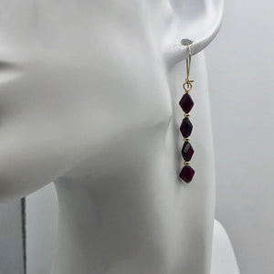 14K Gold Filled Red Pyrope Garnet Earrings | 2 inches long | - PremiumBead Alternate Image 9
