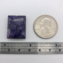 Load image into Gallery viewer, 25cts of Rare Rectangular Pillow Charoite Bead | 1 Beads | 23x18x7mm | 10872A - PremiumBead