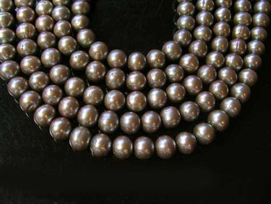 3 Breathtaking Champagne 8mm to 9mm Pearls 2376 - PremiumBead