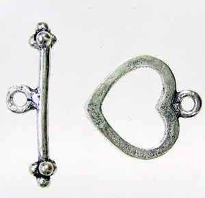 Be Mine 1 Sterling Silver Heart Toggle Clasp 7935 - PremiumBead Primary Image 1