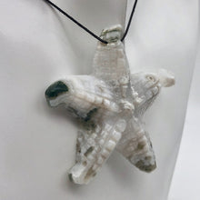 Load image into Gallery viewer, Tree Agate Carved Starfish Pendant Bead - PremiumBead