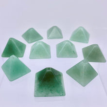 Load image into Gallery viewer, Shine 2 Hand Carved Aventurine Pyramid Beads, 17x17x11mm, Green 9289AV | 17x17x11mm | Green - PremiumBead