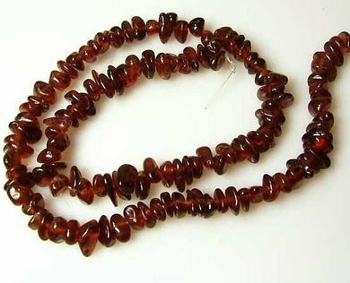 Blood Red Pyrope Garnet Nugget Bead Strand 110468 - PremiumBead Primary Image 1