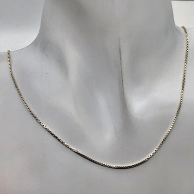 Sterling Silver Fine Box Chain 1mm - PremiumBead Primary Image 1