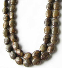 Load image into Gallery viewer, Rare Chocolate Jasper Oval Coin Bead Strand 109157 - PremiumBead