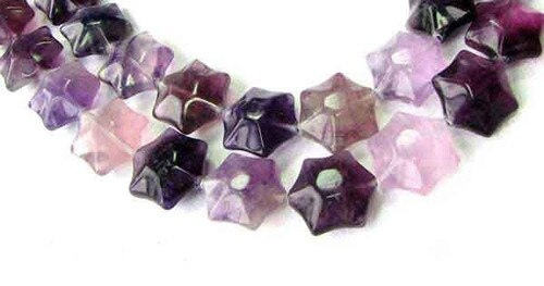 3 Carved Fluorite 6-Point Star Beads 9245FL - PremiumBead