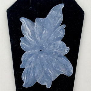83.9cts Hand Carved Blue Chalcedony Flower Bead | 53x42x4mm | - PremiumBead Alternate Image 2