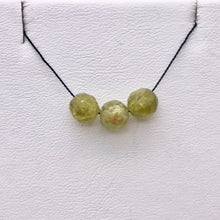 Load image into Gallery viewer, 3 Green Grossular Garnet Faceted Round Beads, Green, 5.5mm, 3 beads, 5753 - PremiumBead