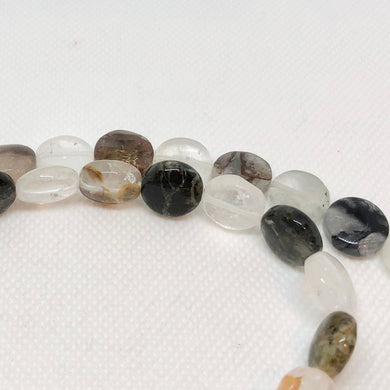 Opal in Quartz 12mm Coin Beads 9341 - PremiumBead Primary Image 1