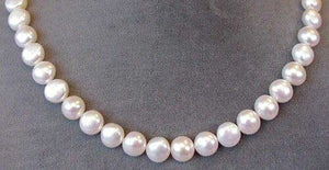 Huge 10 to 9mm Creamy White Button FW Pearls 004500 - PremiumBead