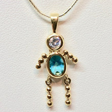 Load image into Gallery viewer, march-crystal-kid-boy-22k-vermeil-pendant-9926cb-11560