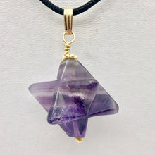 Load image into Gallery viewer, Amethyst Star Pendant Necklace | Semi Precious Stone Jewelry | 14k Pendant - PremiumBead
