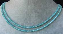 Load image into Gallery viewer, 4 Natural Blue Zircon Faceted 3x2-3x1.5mm Roundel Beads 006049 - PremiumBead Alternate Image 2