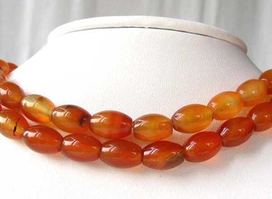 Natural Carnelian Agate 12x9mm Oval Bead Strand 109355 - PremiumBead Primary Image 1