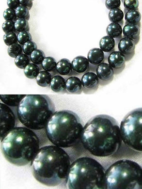 Midnight Emeralds Green FW Pearl Strand 109444 - PremiumBead