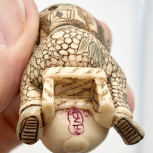 Load image into Gallery viewer, Scrimshaw carved Sleeping Asian Boy with Drum figurine - PremiumBead Alternate Image 6