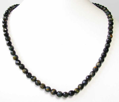Midnight Tigereye 6mm Faceted Bead 7.75 inch Strand 10240HS - PremiumBead