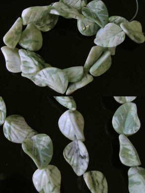 Hand Carved Harmony Stone Leaf Bead 8 inch Strand (10 Beads) 10165HS - PremiumBead Primary Image 1