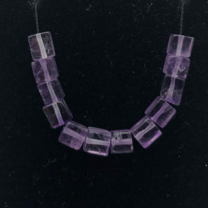 AAA Gorgeous Natural Amethyst Cube Tube Beads | 4x4mm | 12 Beads | 2917 - PremiumBead