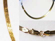 "Load image into Gallery viewer, 24"" 22K Vermeil 4mm-11.5 Gm Flex Herringbone Chain 10026B - PremiumBead"