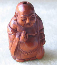 Load image into Gallery viewer, Sacred Hand Boxwood Blessing Buddha Ojime/Netsuke Bead | 29x15x15mm | Brown - PremiumBead