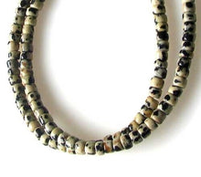 Load image into Gallery viewer, Spots Dalmatian Jasper Wheel Bead Strand 109542 - PremiumBead