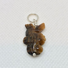 Load image into Gallery viewer, Tiger'S Eye Carved Seahorse W/Silver Pendant - So Cute! 509244TES - PremiumBead