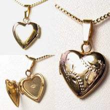Load image into Gallery viewer, Valentine's Engraved 14Kgf Heart Locket Pendant 10535 - PremiumBead